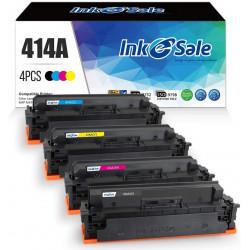 DIY HP 414A Compatible Toner Cartridge 4 Color Set (No Chip)