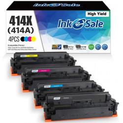 DIY HP 414X Compatible Toner Cartridge 4 Color Set (No Chip)