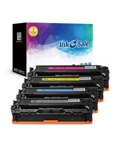 INK E-SALE Replacement for CB540A CB541A CB542A CB543A (125A) Black / Cyan / Yel