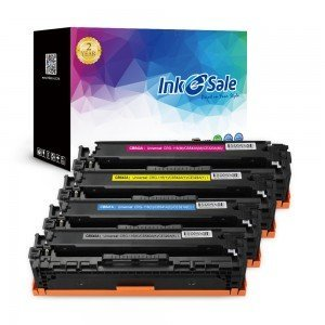 INK E-SALE Replacement for HP CB540A CB541A CB542A CB543A (125A) Black / Cyan / Yellow / Magenta Toner Cartridge 4Pack