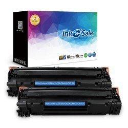 INK E-SALE Replacement for HP CE285A (85A) Black Toner Cartridge 2 Pack