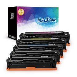 INK E-SALE Remanufactured HP CE320A CE321A CE322A CE323A (128A) KCMY Toner Cartridge 5 Pack