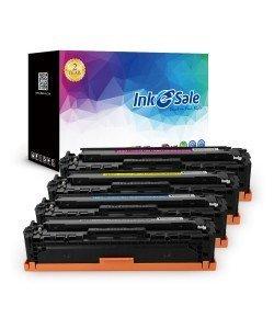 INK E-SALE Replacement for CE320A CE321A CE322A CE323A (128A) Black / Cyan / Yel