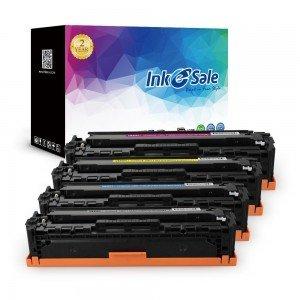 HP 128A (CE320A CE321A CE322A CE323A) Remanufactured KCMY Toner Cartridge 4 Pack