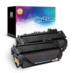 HP 05A CE505A Black Compatible Toner Cartridge - 2 Pack