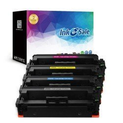 INK E-SALE Compatible HP 410X (CF410X CF411X CF412X CF413X) Toner Cartridge - 4 Pack