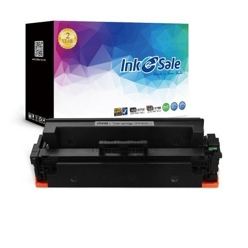 INK E-SALE Compatible 410X CF410X Black Toner Cartridge High Yield 6500 Pages for Used in Color LaserJet Pro MFP M477fdn M477fdw M477fnw,Pro M452dn M452nw M452dw M377dw Printers,1 Pack