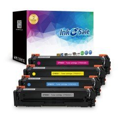 INK E-SALE  HP Compatible HP 202X (CF500X CF501X CF502X CF503X) Toner Cartridge- 4 Pack