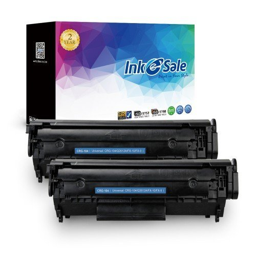 INK E-SALE Replacement for Canon 104 Black Toner Cartridge 2 Pack