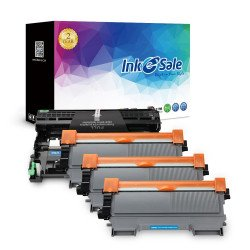 INK E-SALE High Yield Combo Set for DR420 Drum Unit and TN450 TN420 Toner Cartridge (1 Drum, 3 Toner