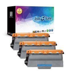 Compatible Brother TN750 TN720 Black Toner Cartridge, High Yield, 3 Pack