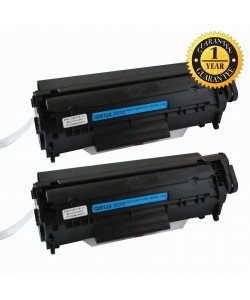 INK E-SALE Replacement for Q2612A (12A) Black Toner Cartridge 2Pack