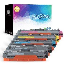 Brother TN225 TN221 Compatible Toner Cartridge 5 Color Set (2 Black, Cyan, Magenta, Yellow)