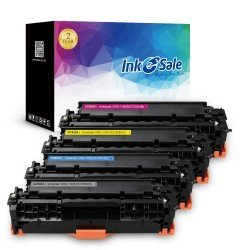 INK E-SALE HP 304A CC530A CC531A CC532A Remanufactured Toner Cartridge 4 Pack (Black, Cyan, Magenta,
