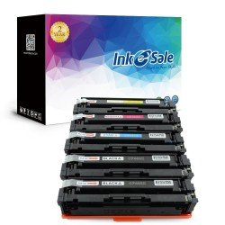 HP 201X (CF400X CF401X CF402X CF403X) Compatible Toner Cartridge - 5 Pack