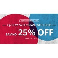 Biggest News! Pre-sale Highest Discount Up to 25% Off on INK E-SALE CF217A
